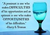 Optimism:  Pass It On!
