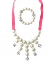 Olivia Pearl Bib and Bracelet Set $17