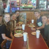 Students of the Month eat at Double Dave's.