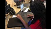 Chalkboard Painted Desks for Math!