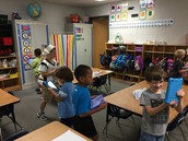 Using devices to take pictures of shapes in the room!