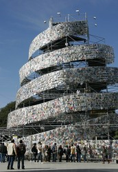 80m Tower Built from 3 000 000 Books!