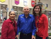 Mr. Rosalio Tobias, Mrs. Tobias, and Principal Collier