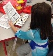 2nd Graders explore music centers