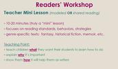 Readers' Workshop Model
