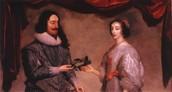 Charles & his wife Henrietta Maria