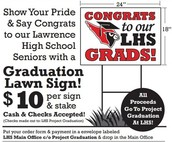 "Say ""Congrats"" with a Lawn Sign"