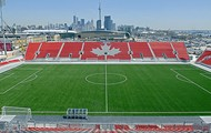 This is a soccer field from Toronto