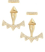 Gold Pave Triangle Ear Jackets - $27