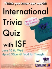 Take break from finals and join the international trivia quiz to get a special prize!