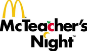 McTeacher Night/Title 1 Night- Tuesday, Oct. 13