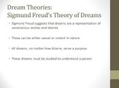 Dreams as unconscious wishes theory
