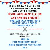 Irving ATPE Super Hero Member Appreciation and Awards Banquet