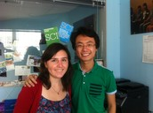Two new volunteers at the SCI Office - Welcome!