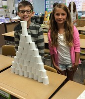 Collaborating on the Cup Tower Challenge