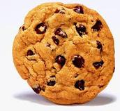 Las galletas con chispas de chocolate : 1,50€