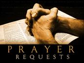 CLASS PRAYER REQUESTS