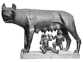 The famous Romulus and Remus statue