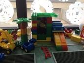 Luke built a house of Legos!