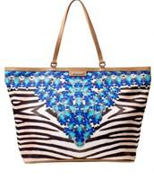 Jeweled (Print) Zebra Capri Tote $49