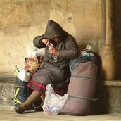 Starving Homeless