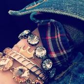 Wishing bracelet and Vintage Crystal Bracelet