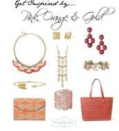 Pink Orange & Gold!