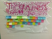 THE KINDNESS WALL IS ALMOST FULL!