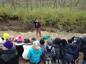 He explained how the fur trappers would catch beaver by the water.