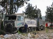 המשאית שגרמה לתאונה
