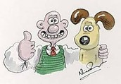A Drawing done by Nick Park