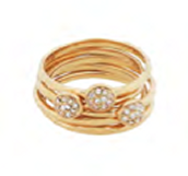 Paloma Stacked Rings - Size 7