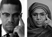 Malcom x and his wife Betty Shabazz