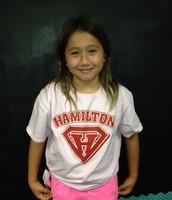 Hannah's winning smile!