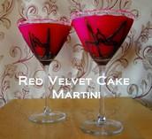Punane sametkook kokteilina