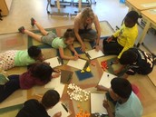 Ms. Verity and students count and graph the Safe Routes to School data for May.