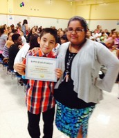 Ms. Ortega and her Super Star Student of the Month