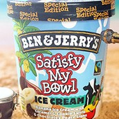 Ben & Jerry's Special Edition Ice cream Satisfy My Bowl.