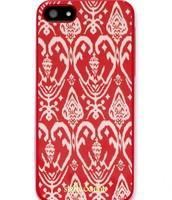 Signature iPhone Case - Red Ikat