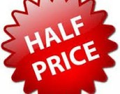 Half-Price Products!