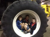 The Wheel of a Combine