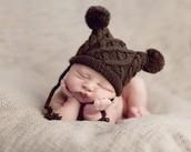 Newborn Wearing a Hat