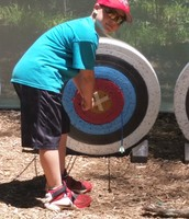 Bryson hits a bull's eye!  Way to go!