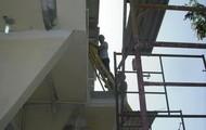 Work on construction.