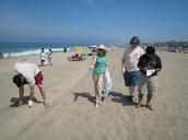 Members clean up Dockweiler beach in Playa del Rey