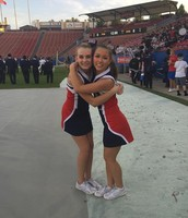 Haley and I at the football game vs. Frisco