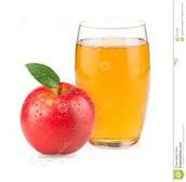El jugo de manzana