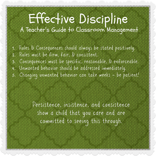 does effective classroom management prevent discipline The role of teachers' classroom discipline in effective classroom management is obviously linked to in an attempt to prevent discipline.