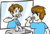 起床后我是刷牙
