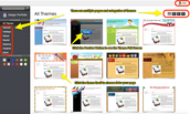 Thumbnails of the Themes will appear.